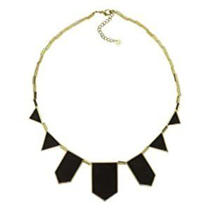House of Harlow black geometric necklace